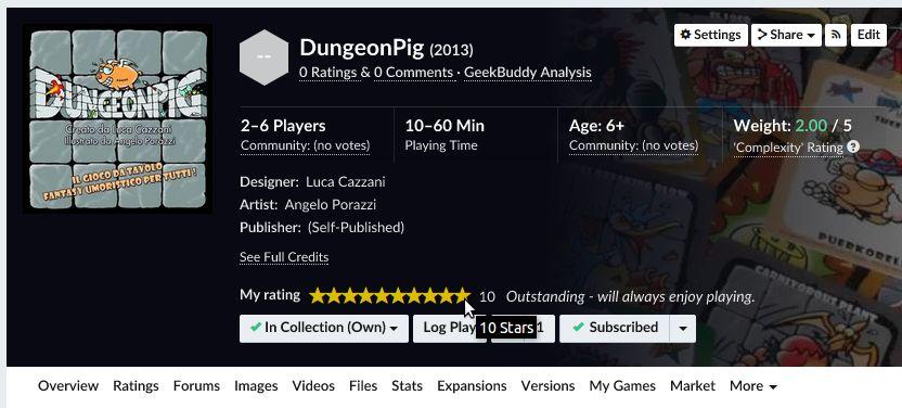 DungeonPig BGG